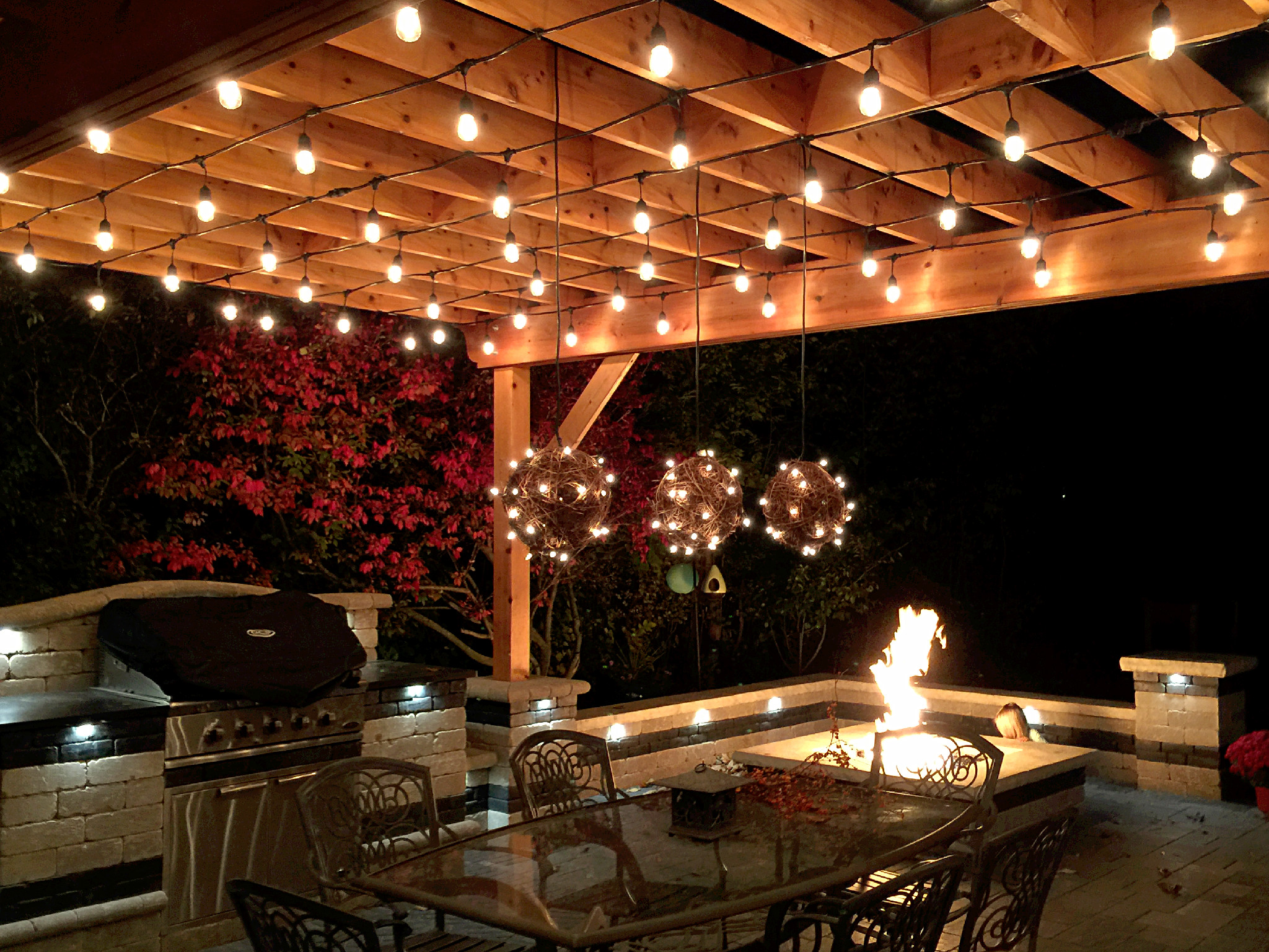 30 cool pergolas with lights - How to use lights to decorate your patio ...