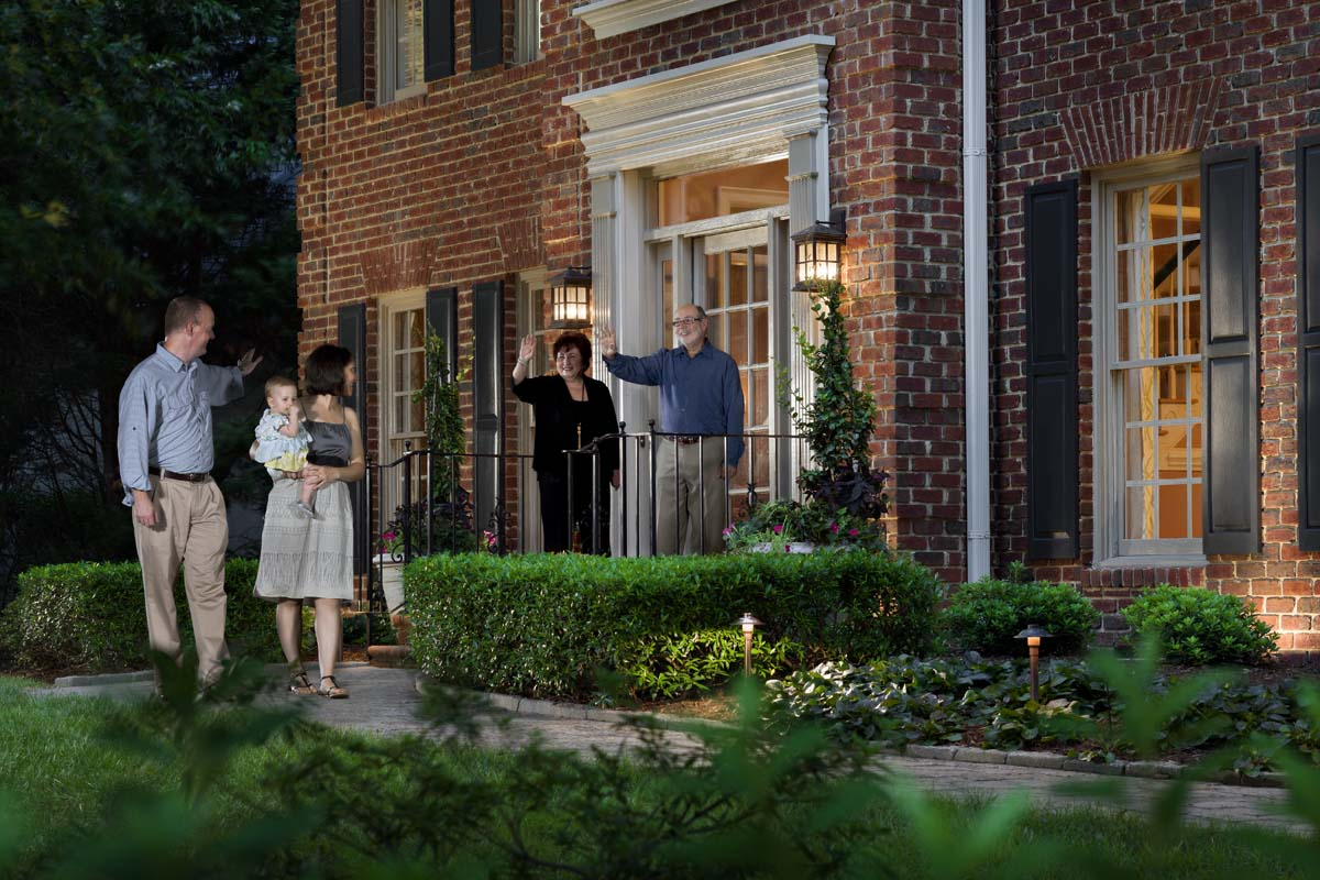 Is your entryway welcoming and safe? By simply adding low voltage outdoor lights to your front entry and pathway, you are adding safety and security for you and your guests.