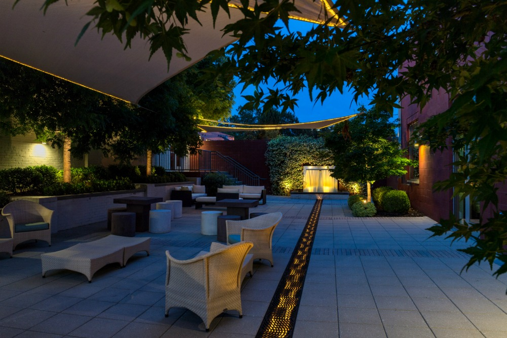 With The Addition Of Custom LED Commercial Restaurant Lighting Your Guests  Can Enjoy A Meal Under The Stars.
