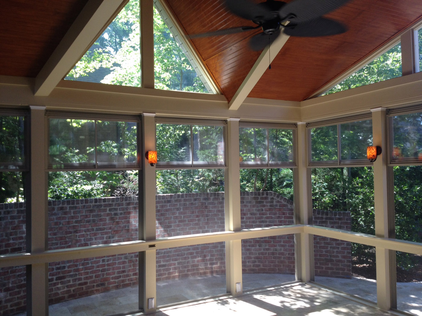 screen porch into a multiseason outdoor room or we can add eze breeze into the initial design on any new screened porch project you have in mind