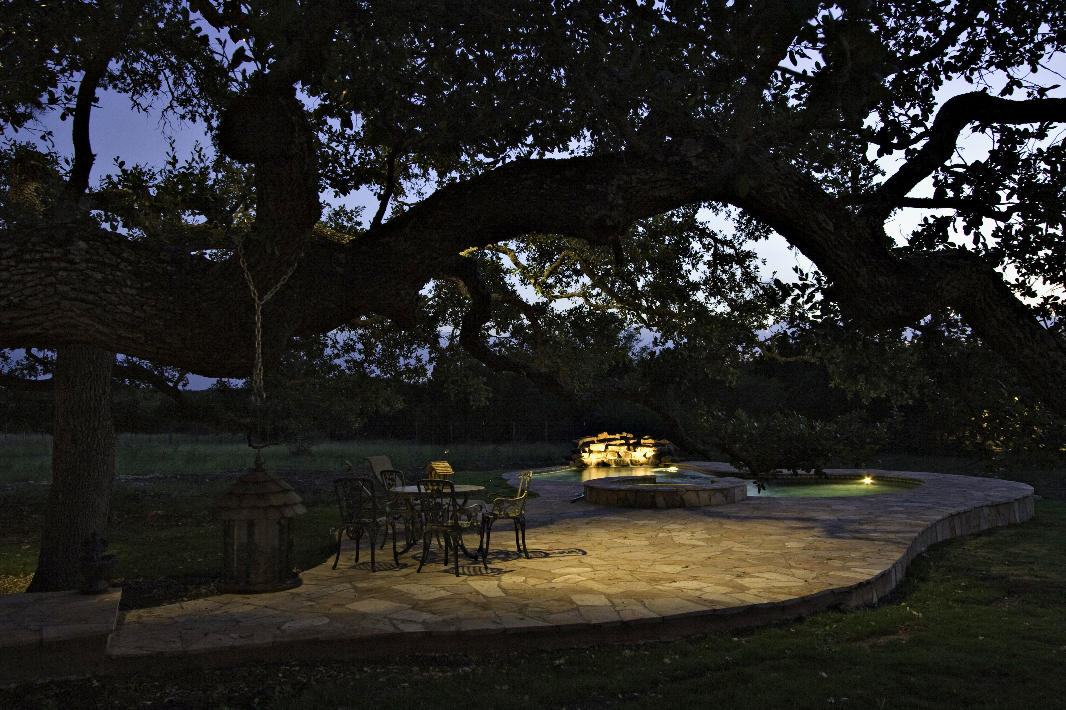 Our blog outdoor lighting perspectives just a few carefully placed lighting fixtures can instantly transform your deck or patio into a relaxing oasis at night planning on having evening arubaitofo Image collections