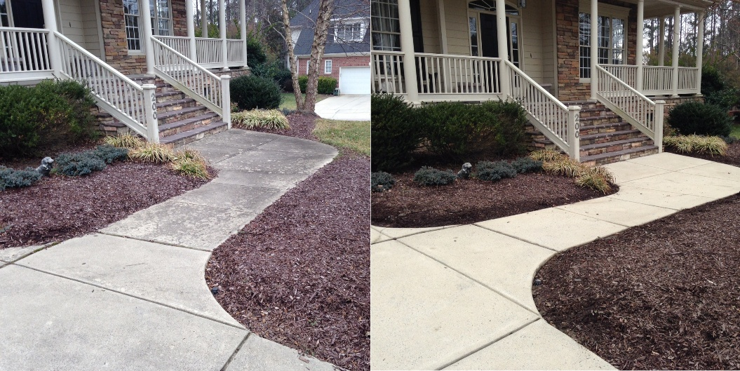 Concrete renew crew of central south carolina for Bleaching concrete driveway