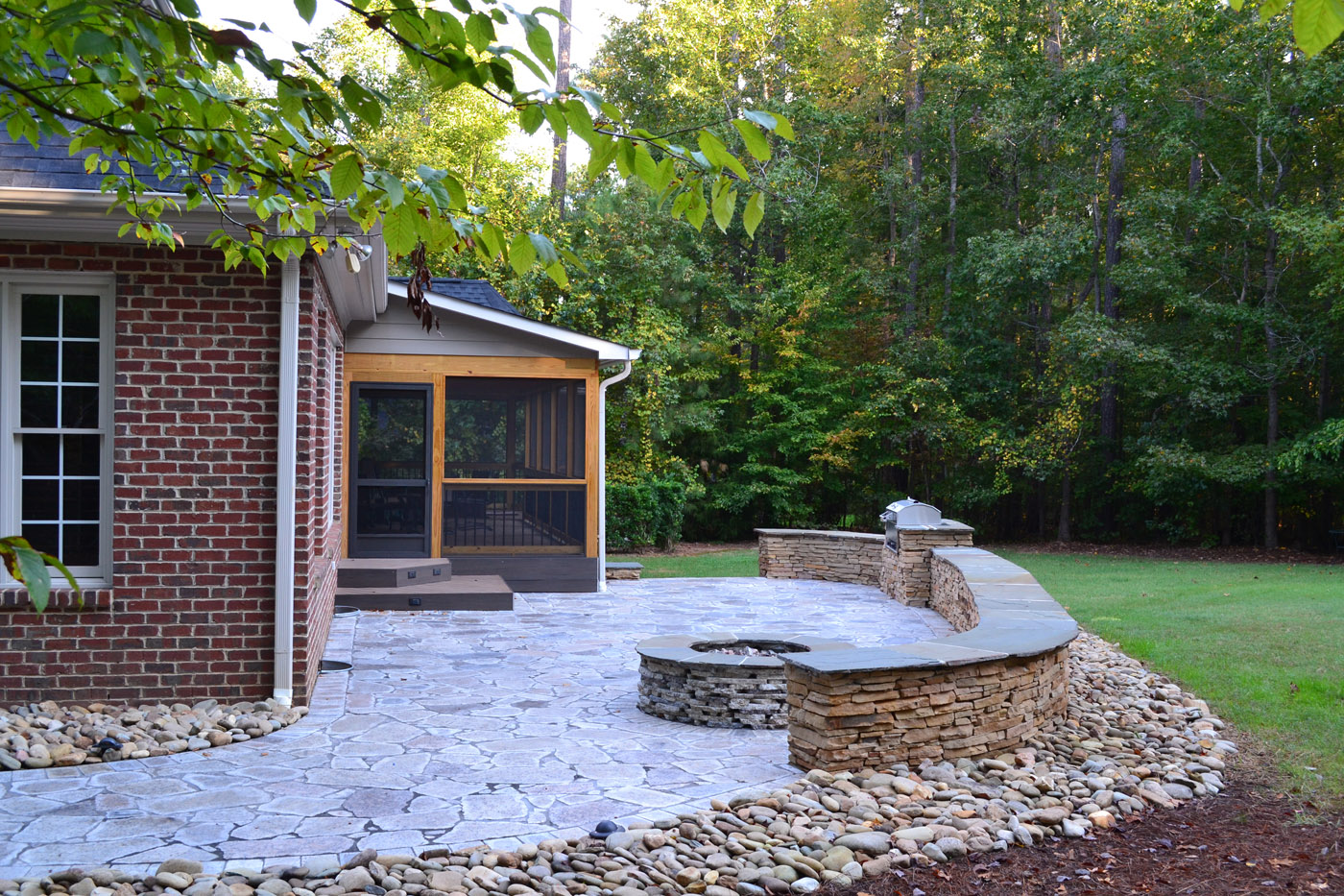 archadeck of raleigh durham and earthstone recycled granite pavers