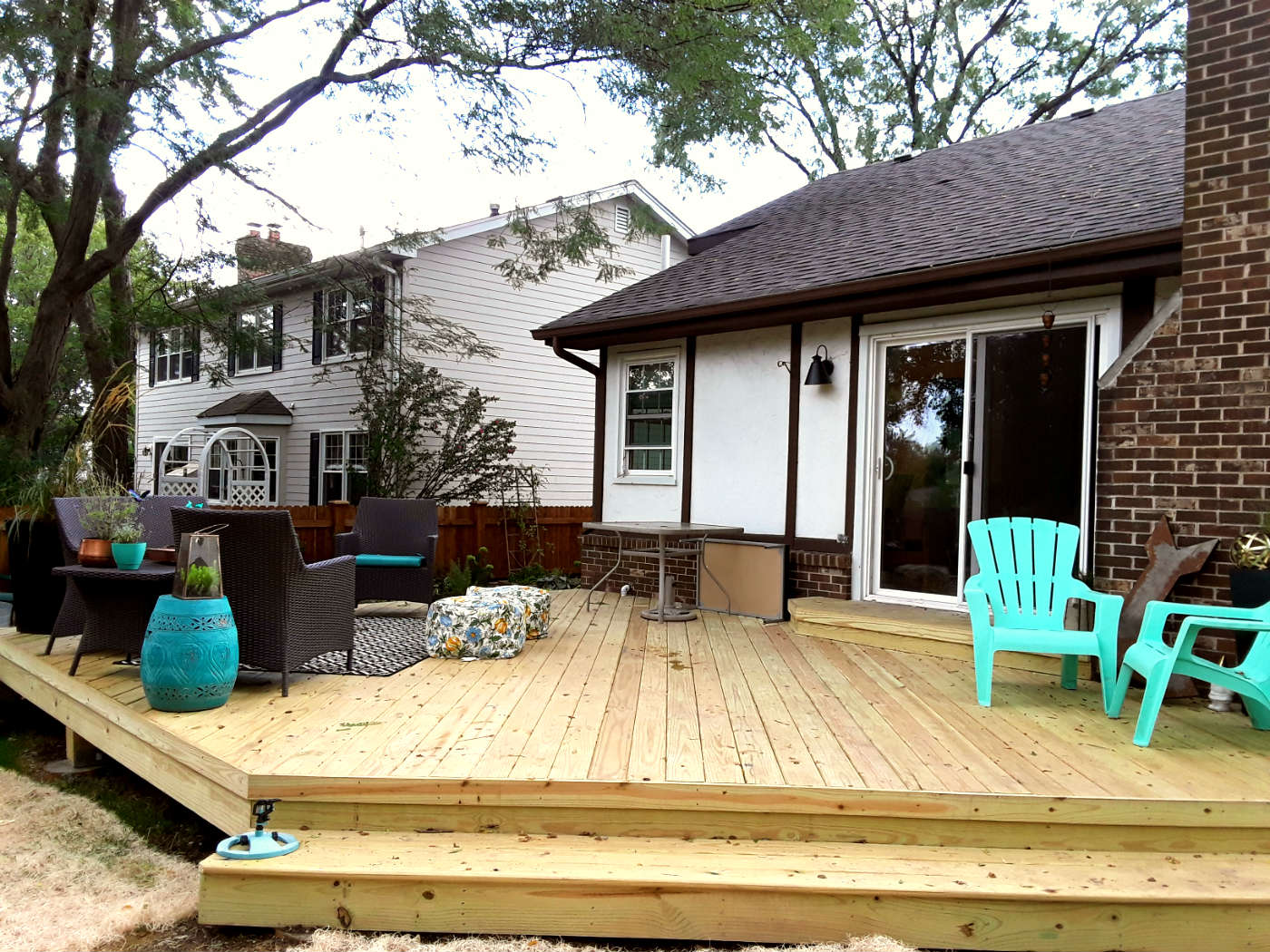 Angled Wood Deck Design by Woodridge, IL Deck Designer Thumbnail