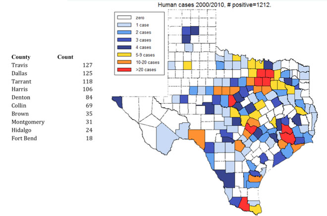 Mosquito Squad Of Greater Austin Lyme Disease - Map of lyme disease in us
