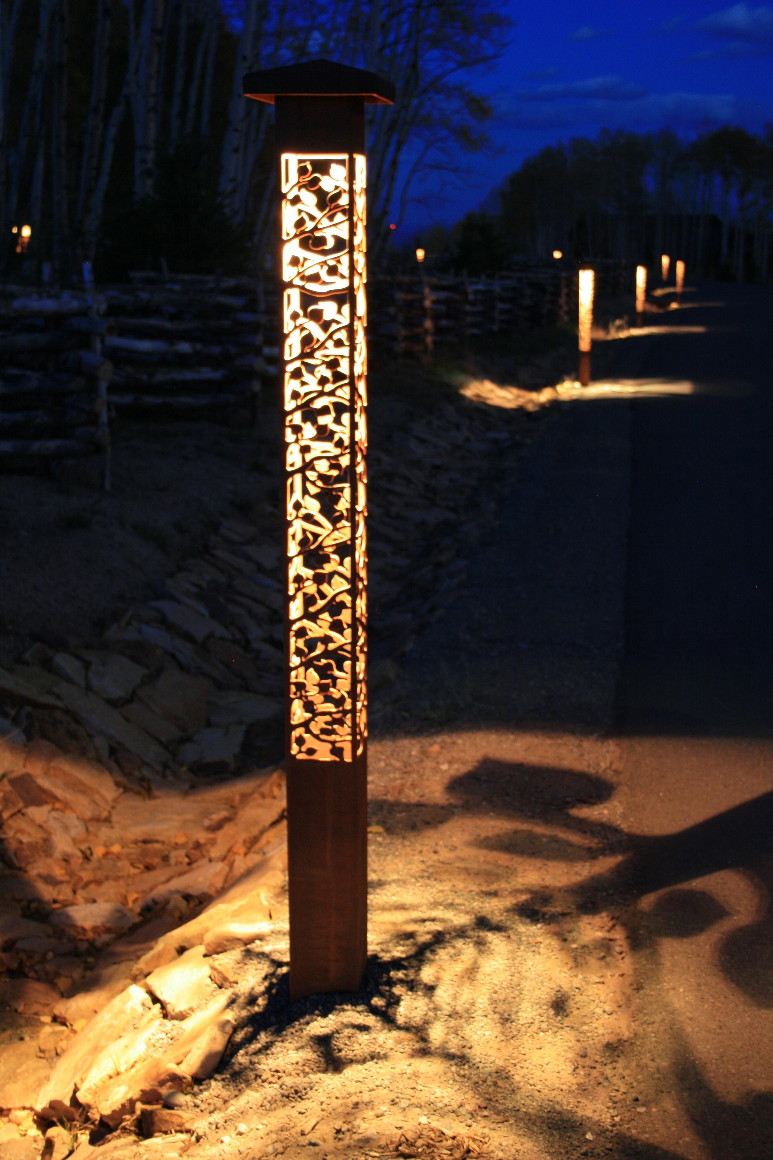 Sculpture lights outdoor lighting perspectives - Exterior landscape lighting fixtures ...