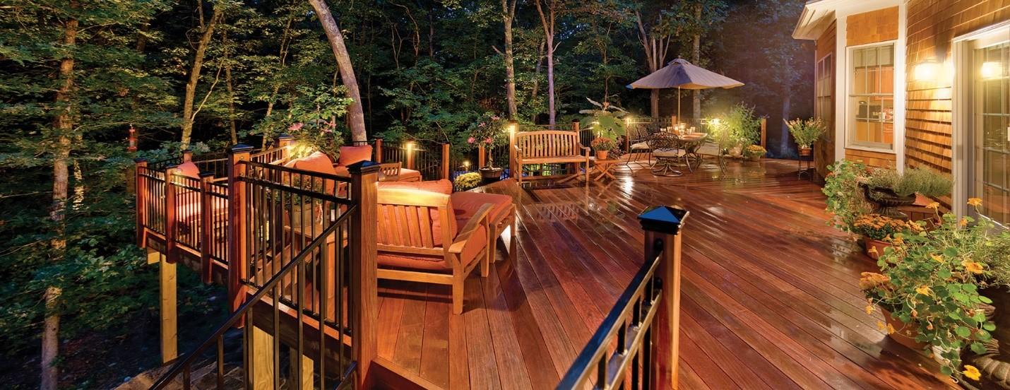 Deck lighting by Outdoor Lighting Perspectives