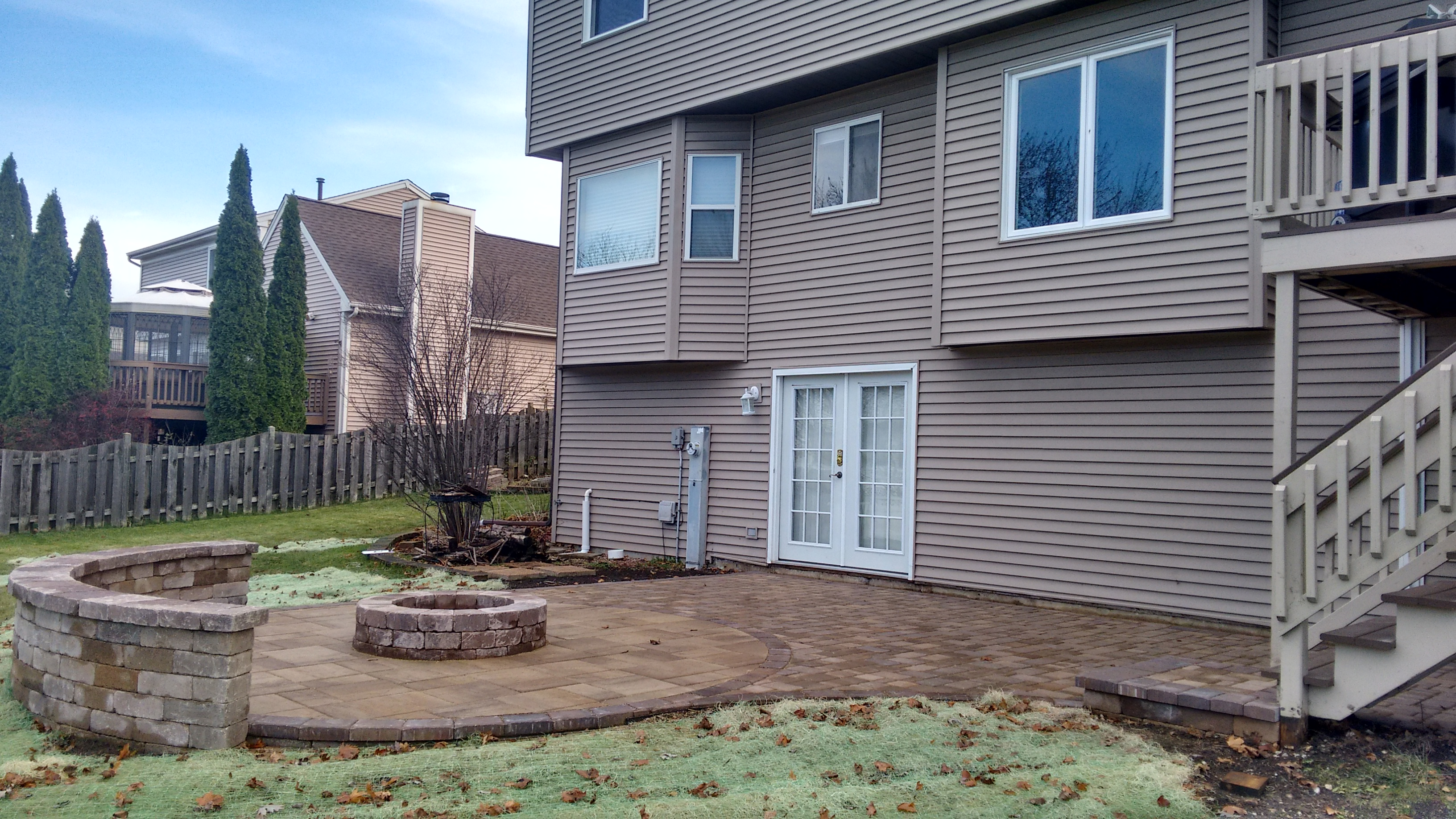 Belgard Patio with fire pit in Carol Stream, IL Thumbnail