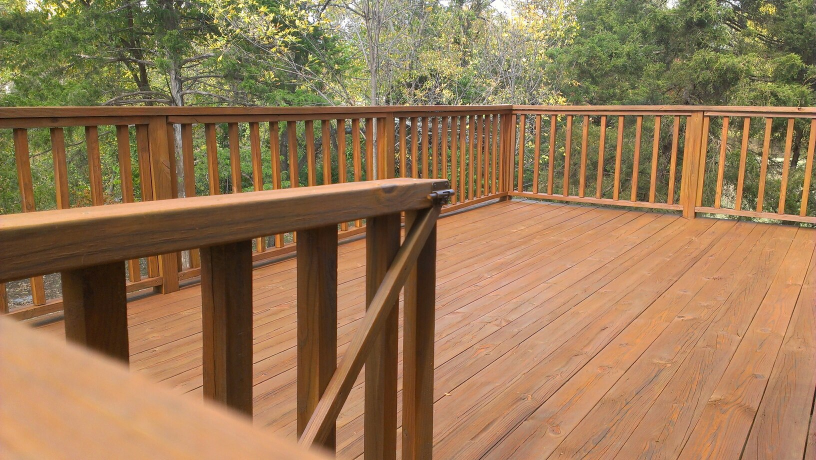 Cleaned Wood Deck in Bentonville AR