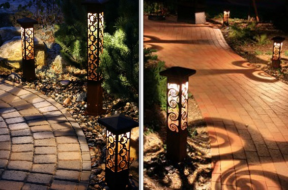 Many Of These Fixtures Cast Decorative Shadow Patterns On The Ground  Surface At Night While At The Same Time Providing Top Quality LED Lighting!