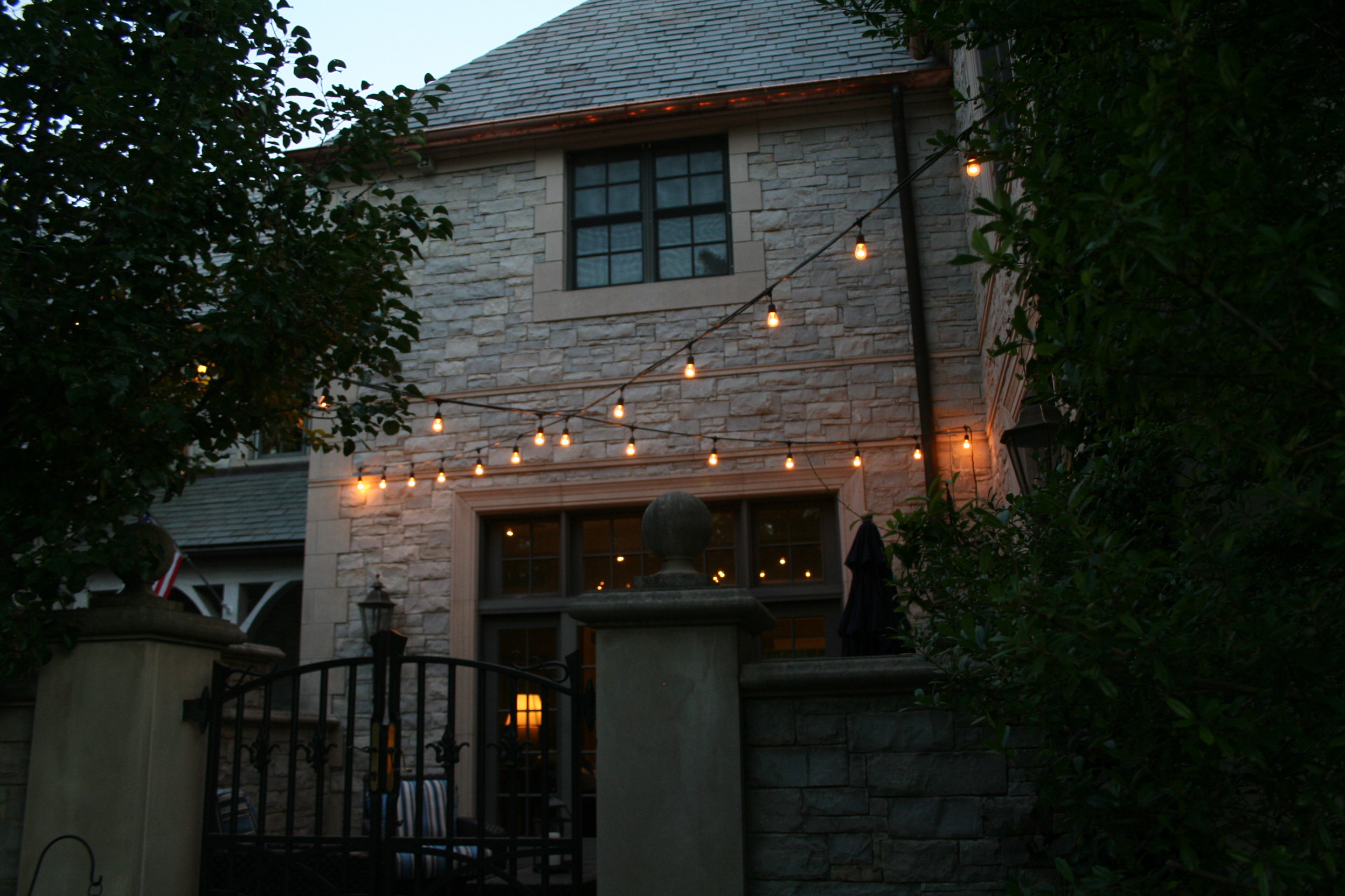 festive patio lighting Memphis TN