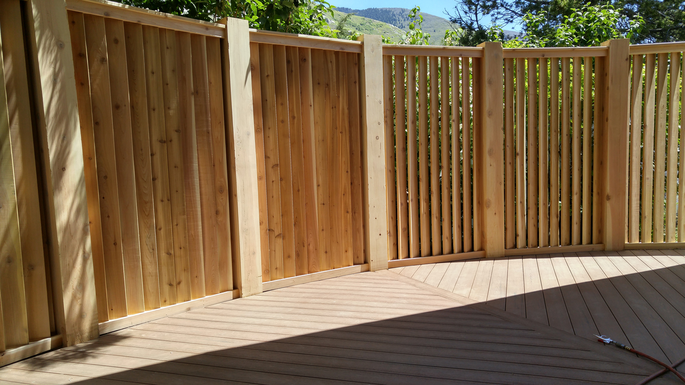 Timbertech Deck Amp Louvered Fence Add Privacy In Farmington
