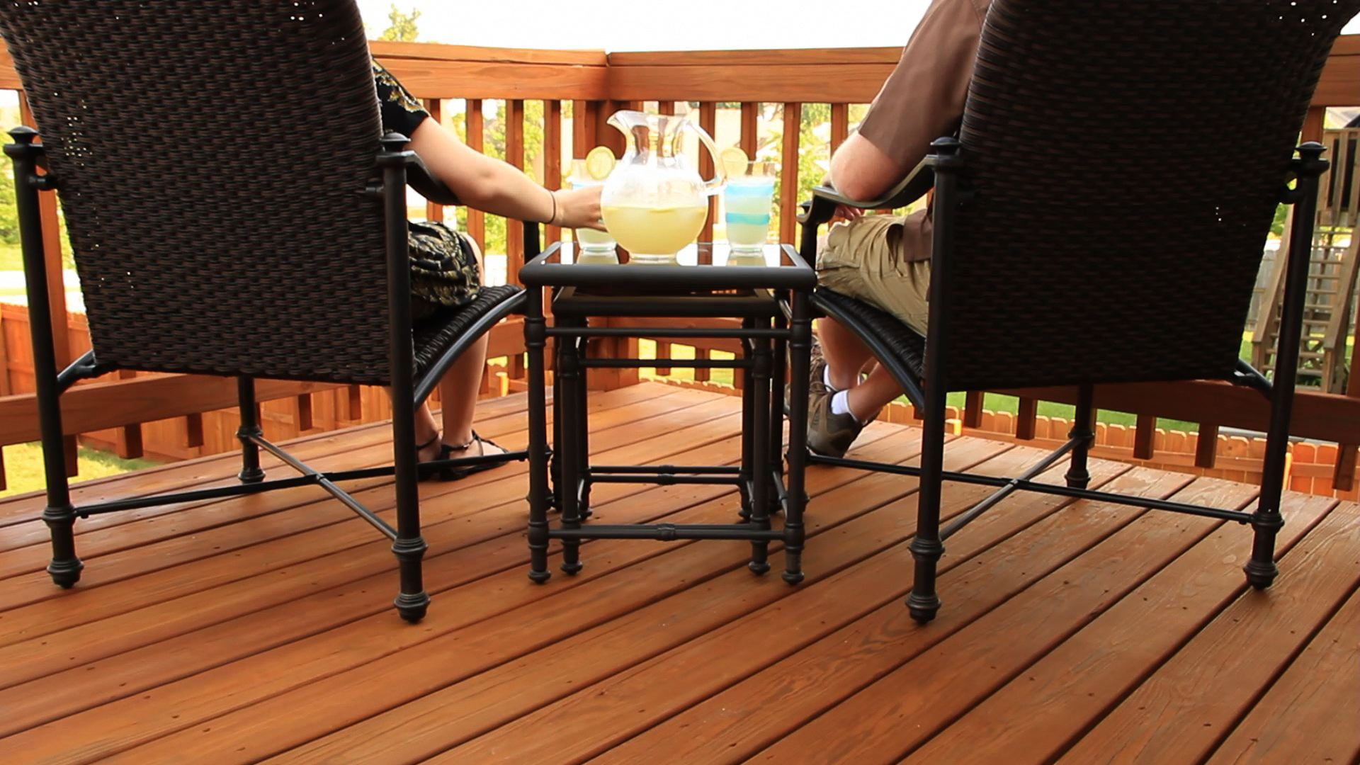 deck cleaned by Renew Crew of Charlotte