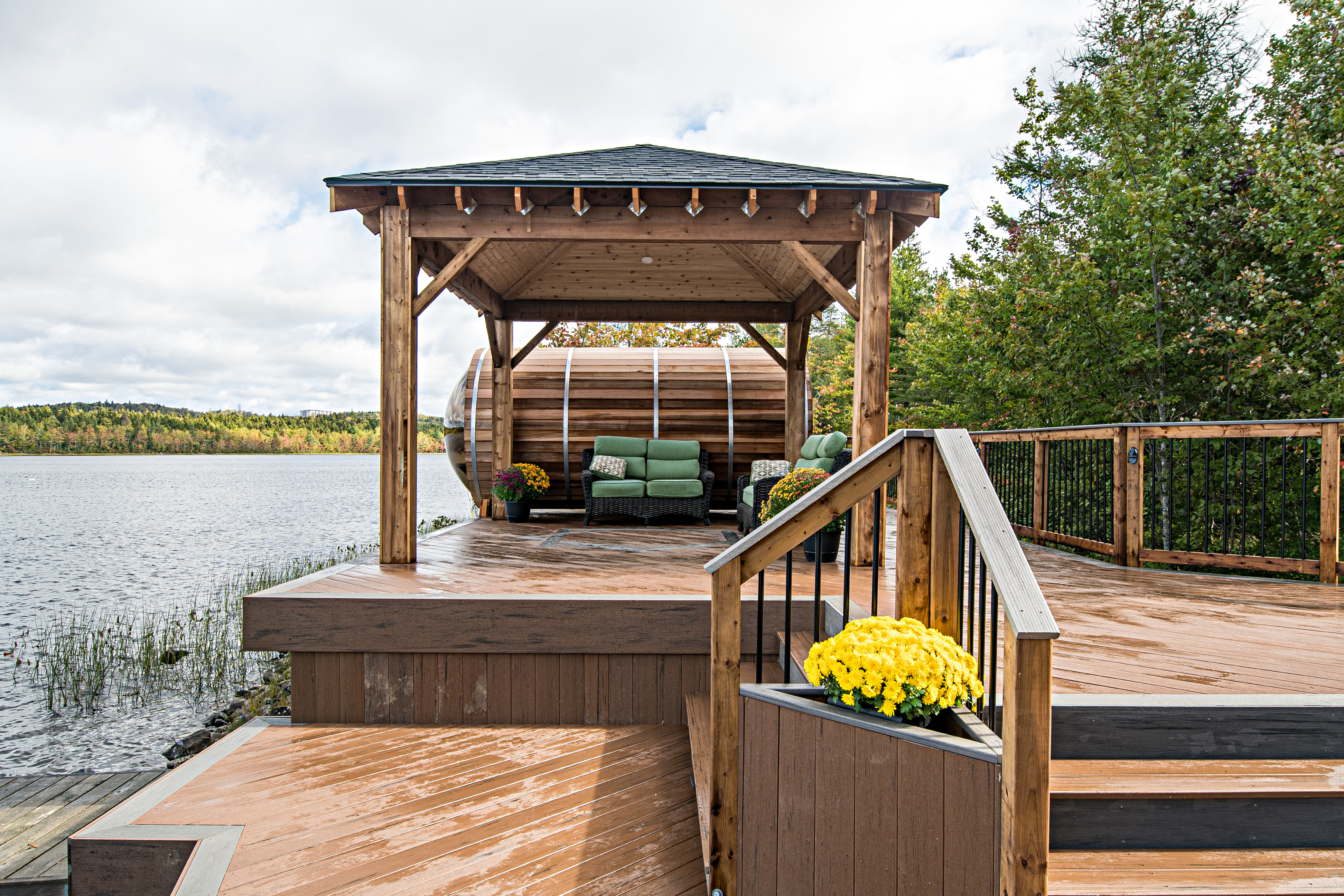 Archadeck Most Outstanding Reno Exterior Deck Gazebo Sauna After Photo 6