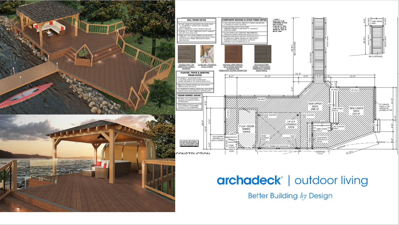 Archadeck Most Outstanding Reno Exterior Deck Gazebo Sauna Design Plans