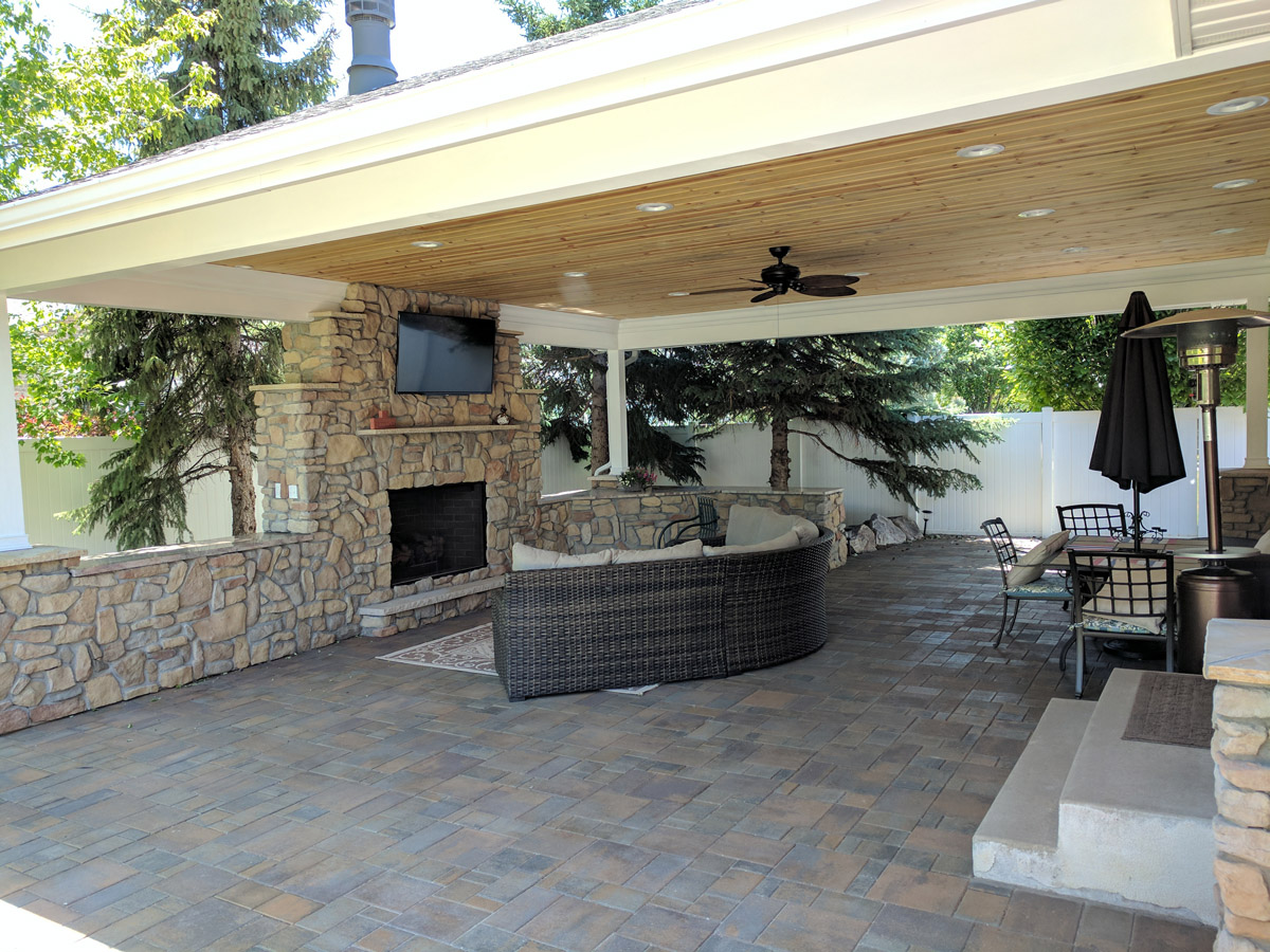 By Creating A Covered Patio With A Beautiful Outdoor Fireplace, These  Homeowners Can Enjoy The Game, Outside, In Any Weather With All Of Their  Friends And ...