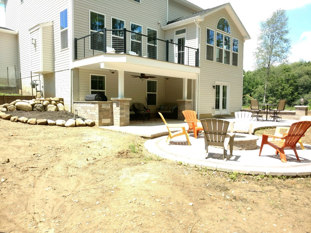 The Homeowners Opted For A Deck And Patio Combination Space. Thatu0027s Exactly  What We Would Have Chosen, Too! Because Of The Slope Of Their Lot, ...