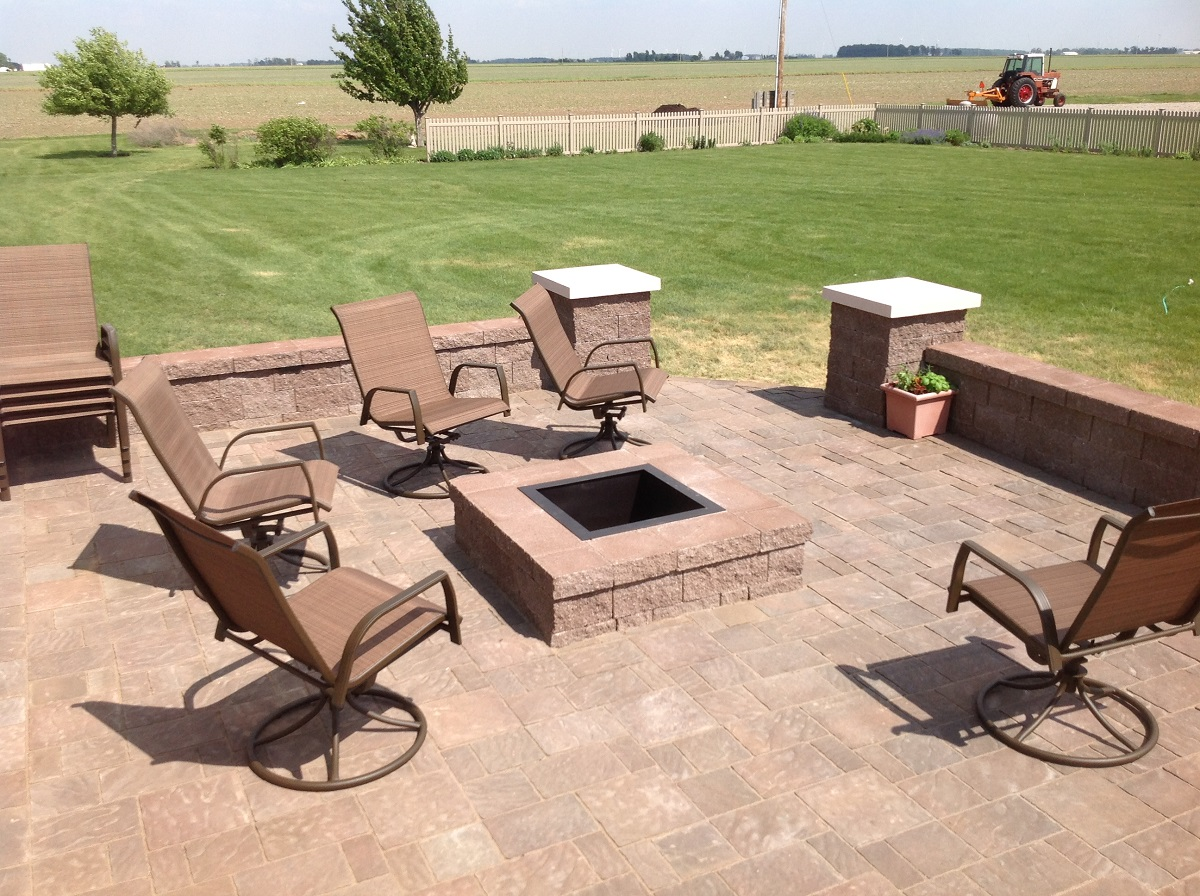For visual interest a multi level patio with a simple step down to the next seating area is a winning design
