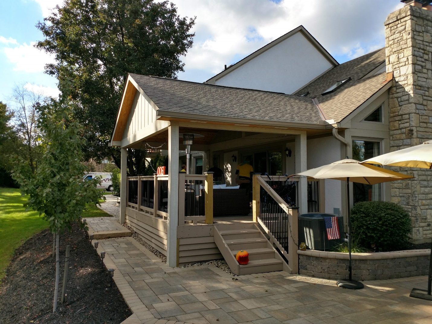 Deck-to-covered-porch-conversion-in-Powell-OH