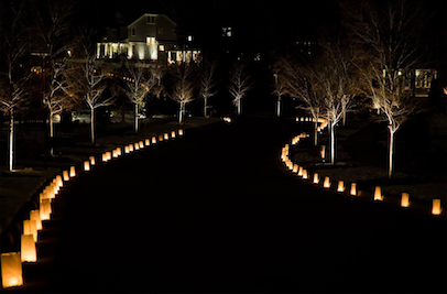 Outdoor Festive Lights Blog outdoor lighting perspectives luminaries are a popular outdoor holiday lighting application they are simple yet stunning often used to line walkways and guide people around the workwithnaturefo