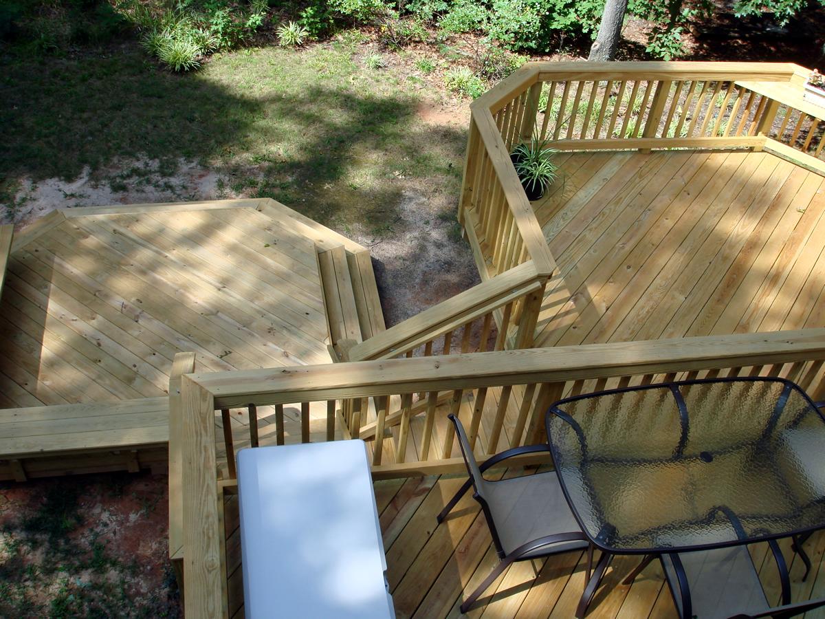 Archadeck wood deck, redeck