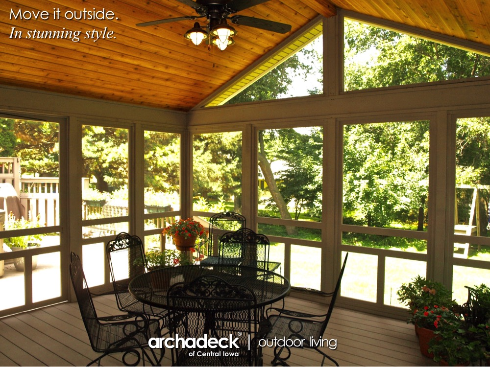 Composite Screen Porch and Hot Tub Deck - Urbandale (Des Moines) Thumbnail