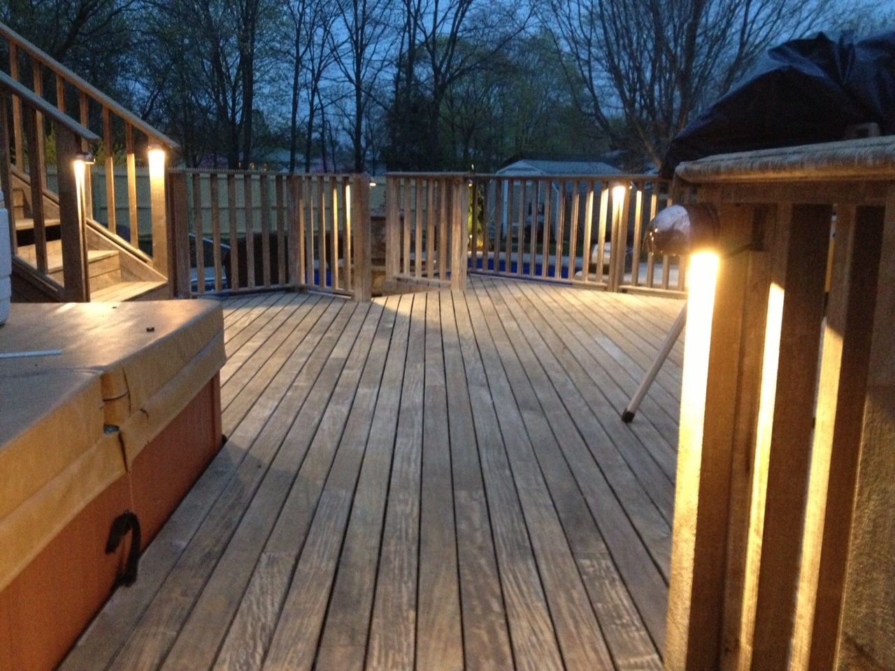 Attractive Do You Have A Privacy Wall On Your Deck? Half Moon Deck Lights Are Perfect  For Mounting Near The Top Of A Privacy Wall To Cascade Down The Lovely  Lattice, ...