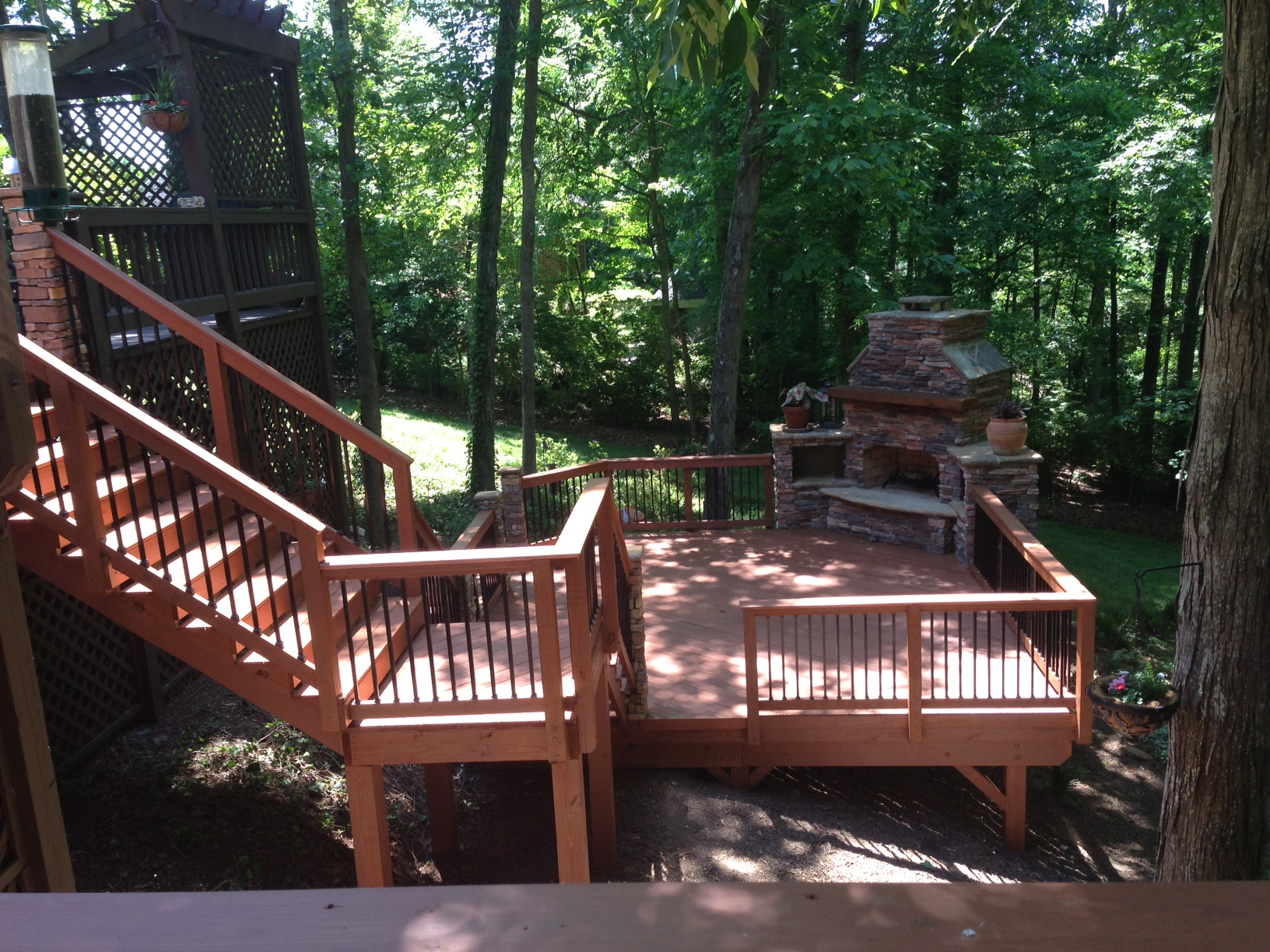 If Your Yard Has A Steep Slope Deck Might Be The Best Way To Create Flat Outdoor Living Space On Lot