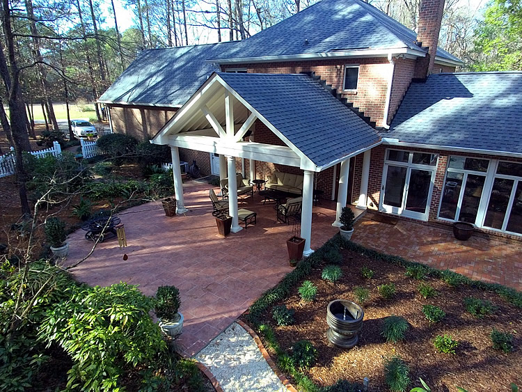 Covered-porch-built-over-paver-patio-in-Elgin-SC