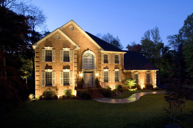 Outdoor Lighting highlights the beauty of Pittsburgh home