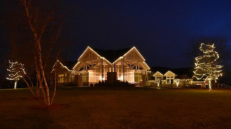 commercial holiday lighting installation