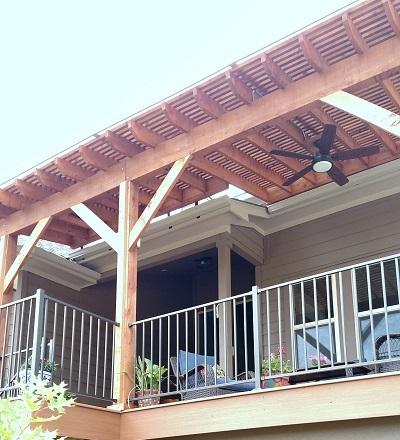 Custom-cedar-pergola-with-Polygal-polycarbonate-cover-atop