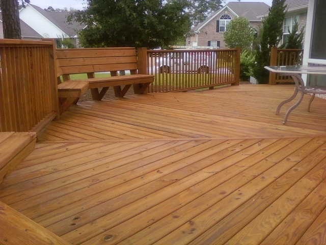 deck staining Ballantyne area of Charlotte