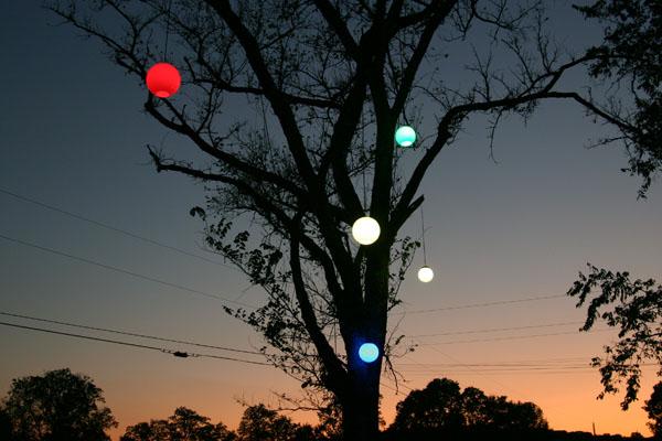 color outdoor globe lighting