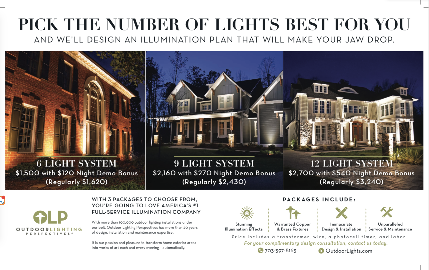 Outdoor lighting perspectives of northern virginia is your professional exterior lighting company our technicians custom design install and maintain