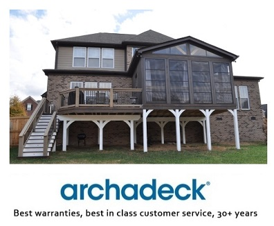Archadeck, best warranties, best in class customer services, 30+ years