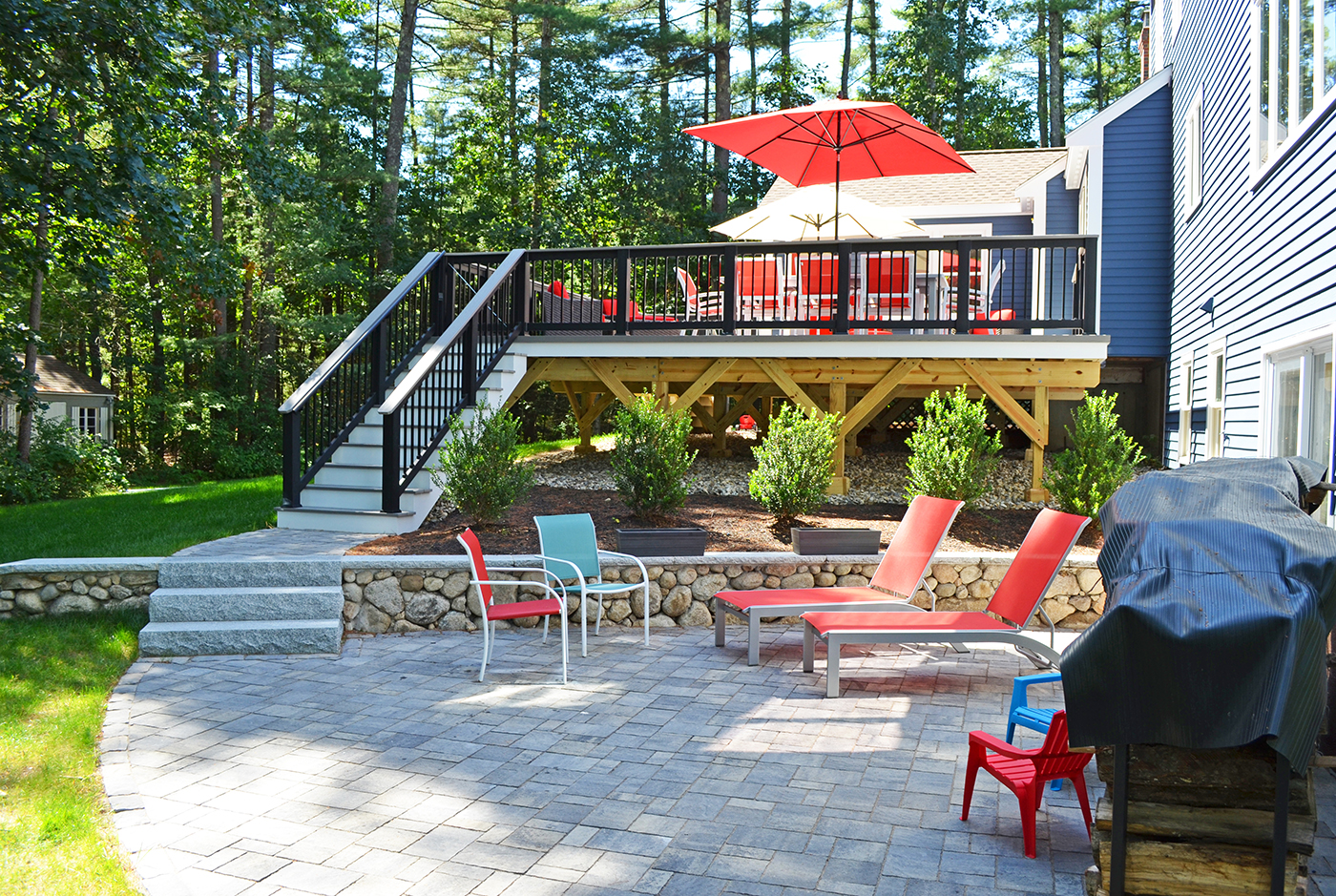 An Oakville Deck And Patio Combination Gives Your Backyard A Natural Flow  From The Home Out To The Lawn, But It Also Gives You Additional Space On  The Patio ...