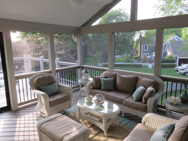 screened porch and deck idea