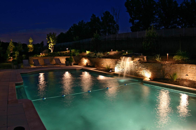 Pool Lighting and Landscape Lighting enhance beauty and functionality