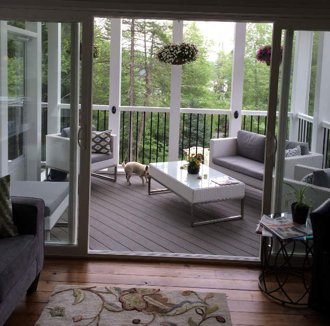 Large Composite Deck With Screen Porch