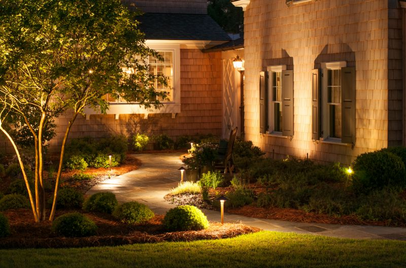 Create safety and security with outdoor lighting outdoor lighting with outdoor lighting it makes deciding whether or not the owner is home a concern for the potential burglar aloadofball Choice Image