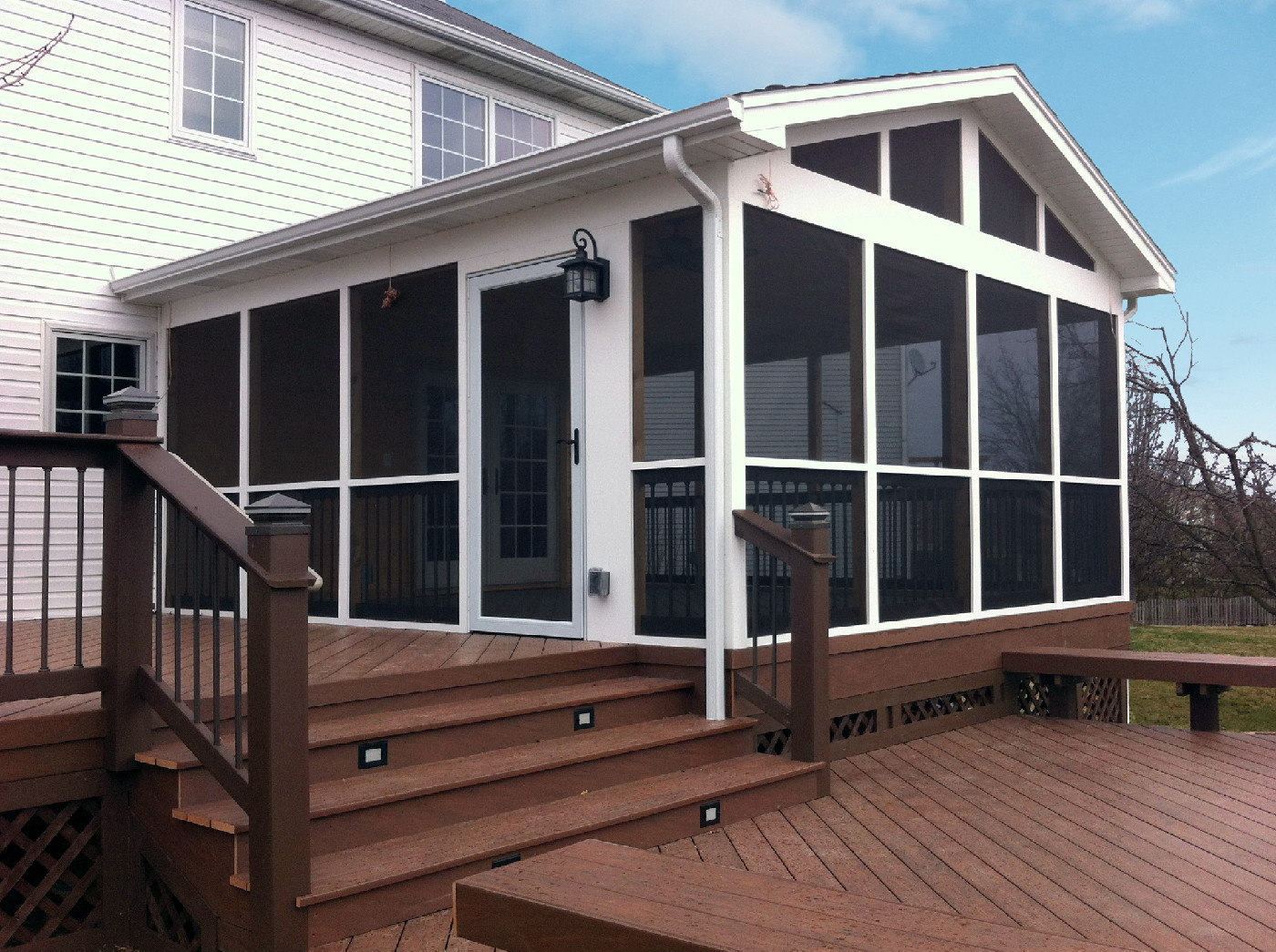 Aurora screened porch with TimberTech Deck