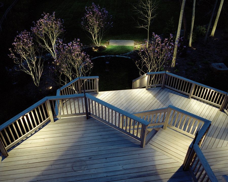 deck lighting. Nashville Deck Lighting Not Only Allows You To Use Your Late Into The  Evening But Also Increases Safety And Security Of Backyard.