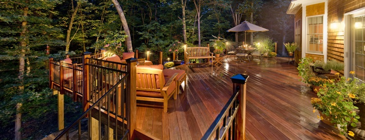 Professional Deck Lighting Creates A Custom Look For Your Outdoor Living  Space With The Dramatic Play Of Light And Shadows And Sets The Perfect Mood  For ...