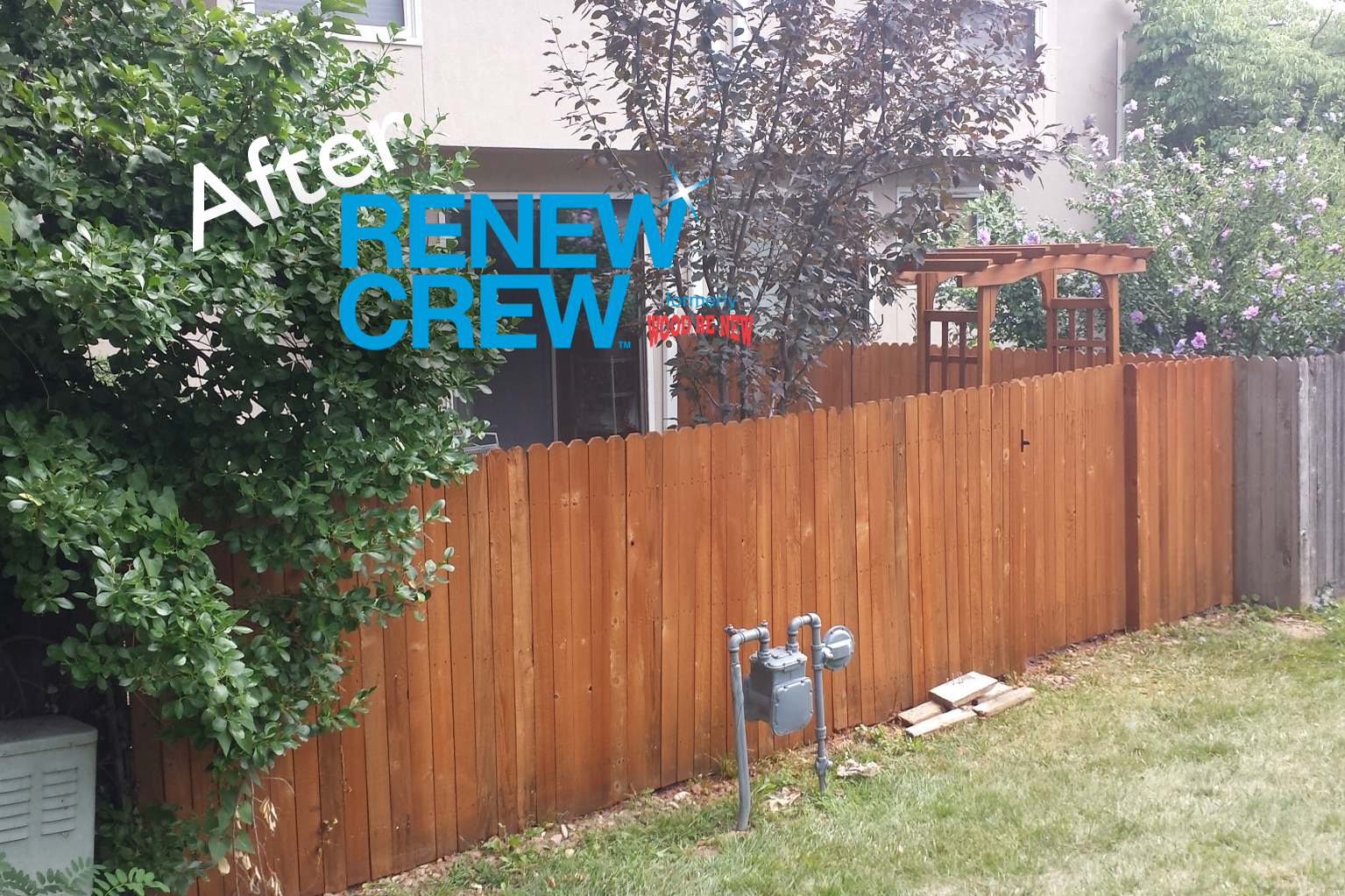 Fence After Renew Crew Cleaning
