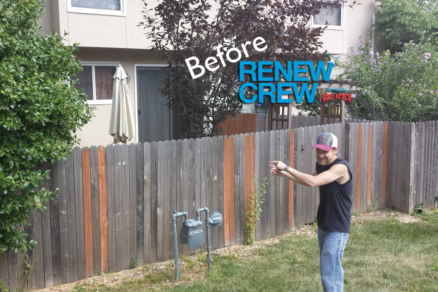 Fence Before Renew Crew Cleaning