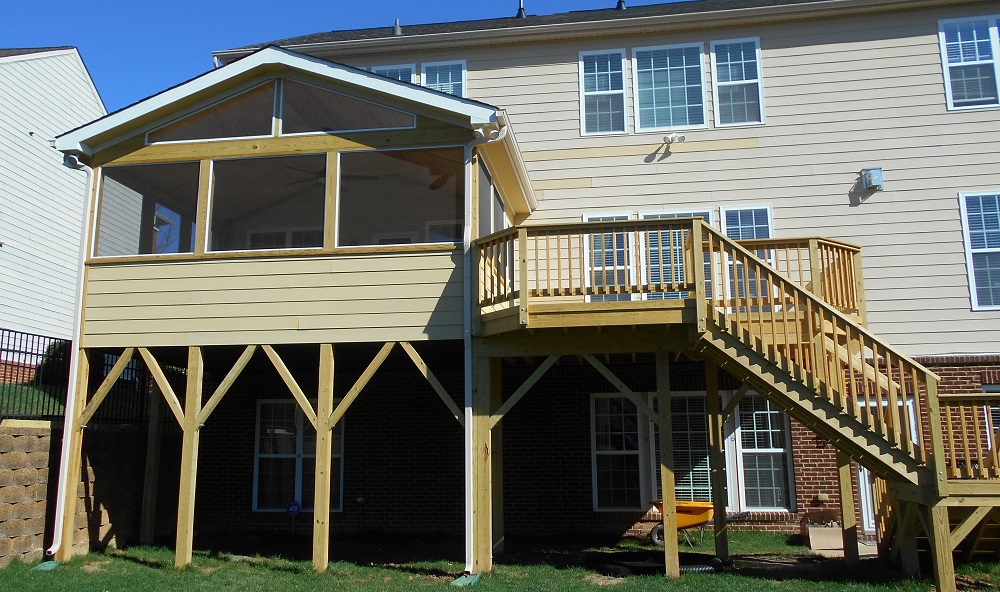 Cary Second Story Deck and Porch