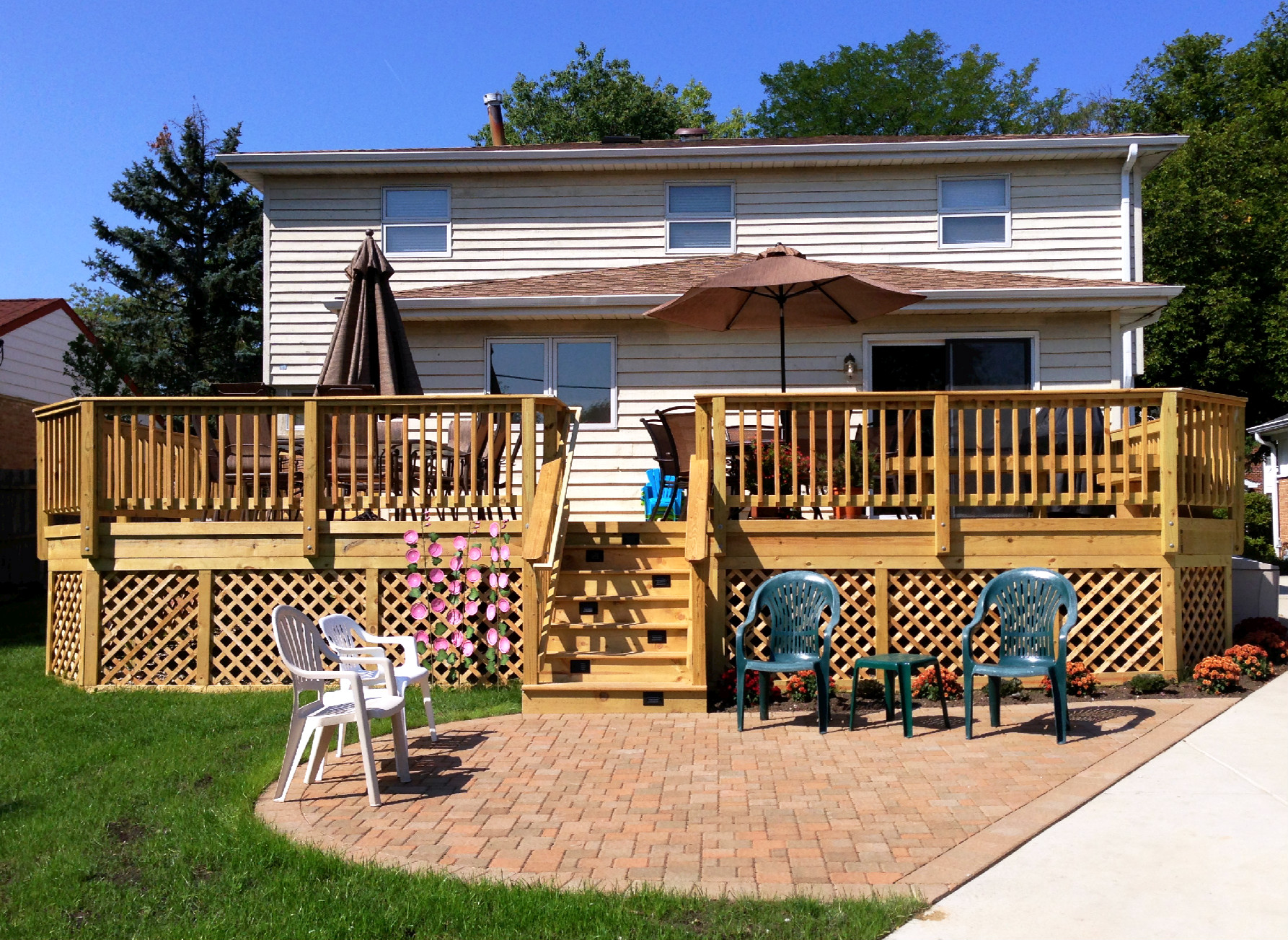 How Much Space Will You Need For Your Deck and Patio Project? Thumbnail & Archadeck of Chicagoland: Deck Patio Fire Pit u0026 Pergolas