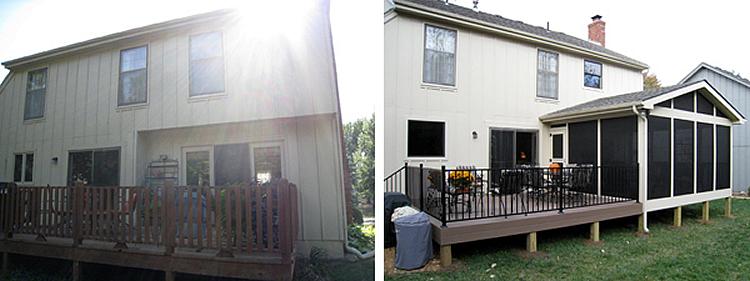 Lenexa porch and deck