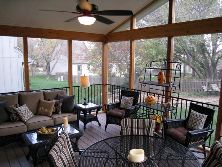 Lenexa screened porch